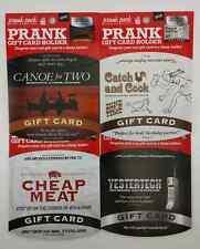 Prank Gift Card Holder Birthday Graduation Anniversary Cheap Meat Free Shipping