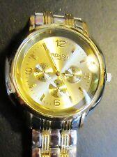 Men's watch Silver / gold  new Rosra designer Multi dial wristwatch