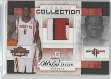 2009-10 Panini Threads Collection Materials Prime /25 Jermaine Taylor #35 Rookie