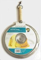 KitchenCraft Heat Diffuser / Simmer Ring with Wooden Handle This handy simmer ri