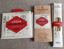 Wildwood Grilling Cedar planks Cedar Wraps Cedar Skewers Cedar grilling lot New
