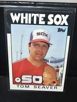 1986 TOPPS #390 TOM SEAVER CHICAGO WHITE SOX NM FREE COMBINE SHIPPING