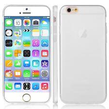 Blanco TPU GEL PARA APPLE iPhone 6G 0.3MM Ultra Delgado Estuche Cubierta-UK