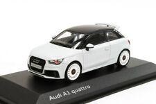 AUDI A1 S1 RS1 8X QUATTRO CLUBSPORT GLACIER WHITE 1:43 MINICHAMPS (DEALER MODEL)