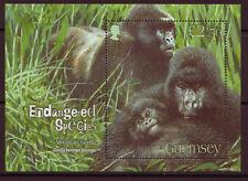 Guernesey 2007 Montagne Gorilles Feuillet non Montés Excellent État , MNH