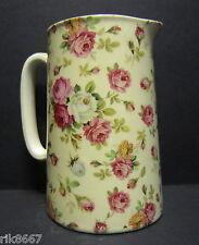 Heron Cross Pottery ROSE BASKET (cream B/G) Chintz English 1 Pint Milk Jug