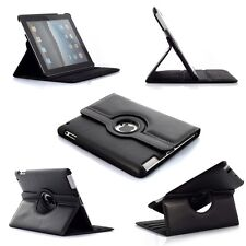 360° BLACK Rotating iPad 2 3 4   SMART Leather Cover Case + Screen  Protector