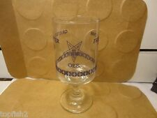Grand Chapter Order of the Eastern Star Footed Glass, 1988 Fresno Ca. (Used/EUC)