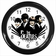 NEW* HOT THE BEATLES BAND Black Wall Clock Decor Gift