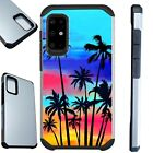 FUSION Case For Samsung Galaxy S20 Note 10 Phone Cover  SUNSET PALM TREE
