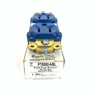 Pass & Seymour PT5262-ABL 15 Amp 125 VAC Blue Plug Tail Duplex Receptacle