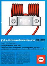 Fella- Zinkenverlustsicherung, orig. Prospekt 1976