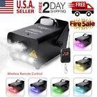 500W Smoke Fog Machine RGB Muti Color LED DJ Party Wedding Stage Light w/Remote