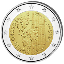 FINLANDE 2 Euro Commémorative Georg Henrik von Wright 2016 UNC