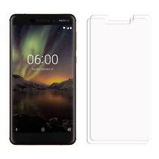 2 Transparente LCD Nokia 6.1 Protector de Pantalla Ahorrador para Teléfono Móvil