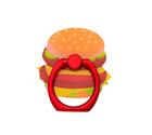 NEW Claire's Girls Hamburger cell phone Ring Stand holder orange