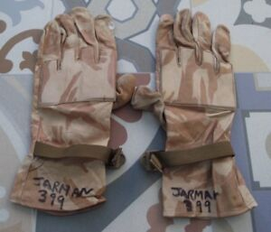 British Army Leather Gloves in Desert Camouflage size 11