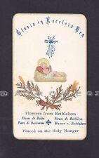 SANTINO 157 BETLEMME - FLEURS DE BETHLÉEM - HOLY CARD RELIQUIA RELIC