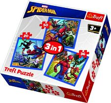 Trefl 3 In 1 20 + 36 + 50 Piece Marvel Spider Man Force Floor Jigsaw Puzzle NEW