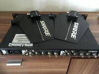 Shure antenna splitter UA845 WB + 2 activ antena 650-900 for UR,Qlxd, ULXd, SLX,