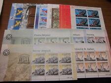Schweiz 11x Kleinbogen, postfrisch, 2001-2003 komplett 1759, 1784, 1831 usw.