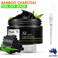 Bamboo Charcoal Facial Peel Off Mask Black Blackhead Clean Mud Remover