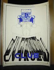Projet d'affiche 65X50 cm voiture ancienne André Citroën Club Traction Cabriolet