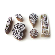 Indian Paisley and Leaf Motif Wood Block Stamps (Set of 6)
