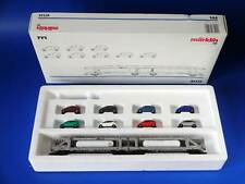 MARKLIN H0 - 47122 - Double Auto Transport Car with 8 Mercedes Cars A-Class/ EXC