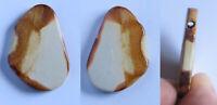 Anhänger Trommelstein Lochstein mit Bohrung Canyon-Wonderstone Esoterik Reiki