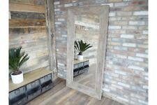 Extra Large Wooden Framed Feature Industrial Style Wall / Leaner Mirror - 183cm