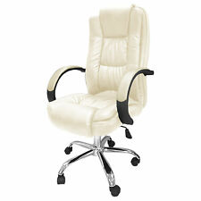 Cream Santana Office Chair Business Faux Leather swivel executive desk beige B39
