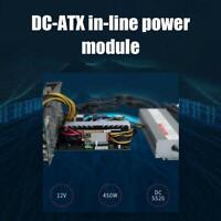450W 24Pin 12V DC Input Peak 450W Output Realan Mini ITX Pico PSU ATX Module New