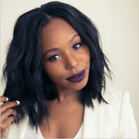 Brazilian Virgin Black Hair Lace Front/Full Lace Wig Glueless Short Bob Wave US