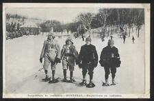 Postcard MONTREAL Quebec/CANADA  Treckers in Snowshoers Costume Gear 1910's