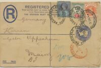GB 1894 QV 2D PS uprated Jubilee ½D 2D 2½D Jubilee REGISTERED / BRADFORD.YORKS