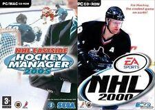 nhl eastside hockey manager 2005 & nhl 2000  new&sealed