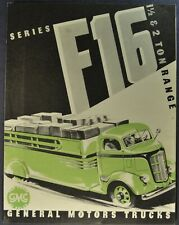1938 GMC F-16 COE Truck Brochure Folder Cab Over Engine Excellent Original 38