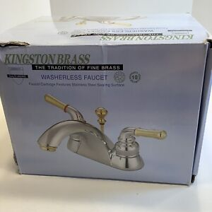 "Kingston Brass KB2624 Two Handle 4"" Centerset Lavatory Faucet with Retail Pop-up"