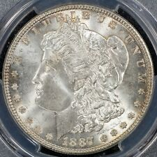 Dollar 1887 PCGS MS64 United States USA Silver Coin Morgan Type BU UNC Luster