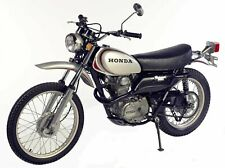 Motorcycle Seat Cover HONDA XL250K MOTOSPORT - 1972/73 C/W Strap - NO LOGO
