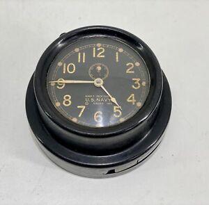 WWII US Navy Chelsea Mark 1 Deck Clock 1943