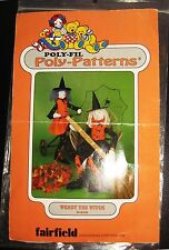 Poly-Fil Poly-Patterns WENDY the WITCH #D-212 Cloth Plush HALLOWEEN DOLL Pattern
