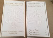 Très jolie carte parfumée Haute Parfumerie De Lancôme