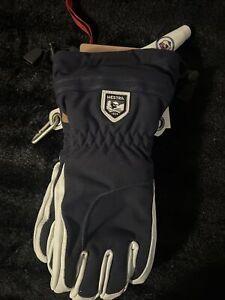 Hestra Army Leather Gore-Tex 3-Finger  * schwarz-weiß *  unisex  * Gr. 9
