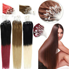 "Easy Loop Micro Ring Tipped Real Ombre Remy Human Hair Extensions 16""-26"" 100s"