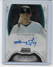 2011 11 BOWMAN STERLING TREVOR STORY ROOKIE PROSPECT AUTO SIGNATURE ON FIRE!!