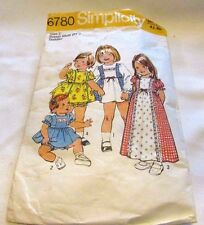 Vintage Original 60's Toddlers Mixed Simplicity Sewing Pattern Size 2 Cut