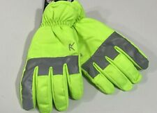 ROTHCO HIGH VISIBILITY SAFETY GREEN WATERPROOF GLOVES WITH REFLECTIVE TAPE SMALL
