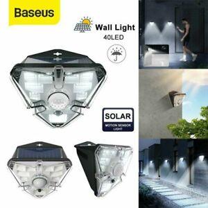 Baseus LED Solar Light Outdoor Motion Sensor Waterproof Pathway Wall Mount Lamp